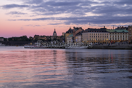 stockholm during twilight blue hour stockholm