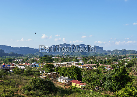vinales town and valley elevated view