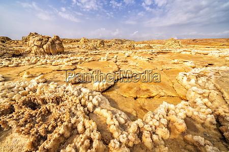volcanic salt rocks dallol danakil depression