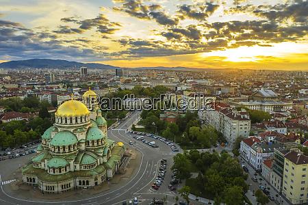 aerial view by drone alexander nevsky
