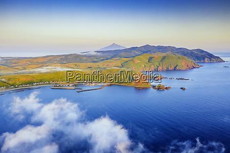 coastal landscape rebun island and rishiri