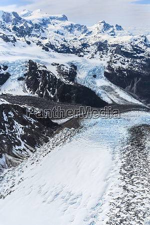 northern patagonian ice field aerial view