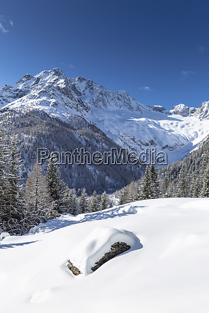 winter landscape after snowfall with view