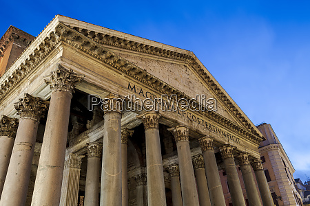 the pantheon at night unesco world