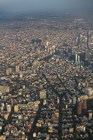 aerial of mexico city mexico north