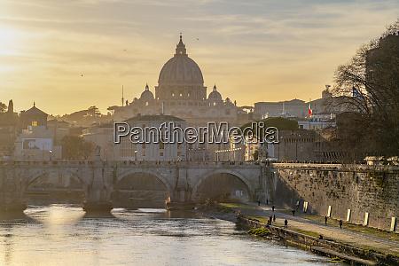 river tiber st peters basilica unesco