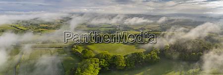 aerial vista of cadbury castle iron