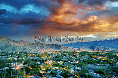 view of leh city in ladakh
