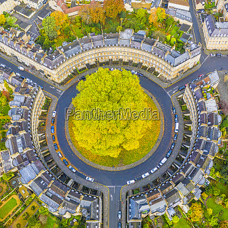 aerial view by drone over the