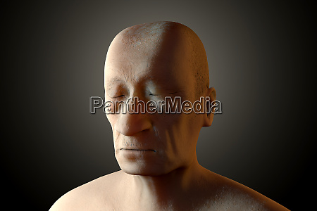 3d rendered illustration of a sad
