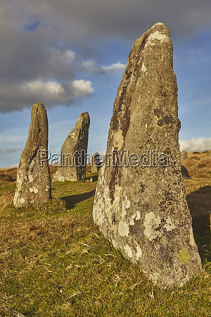 ancient prehistoric standing stones in a