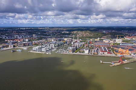 aerial view by drone of hesingen