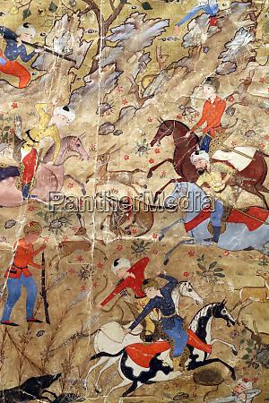 artistic ornamentation of manuscript of princes