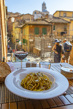 view of traditional italian cuisine pasta