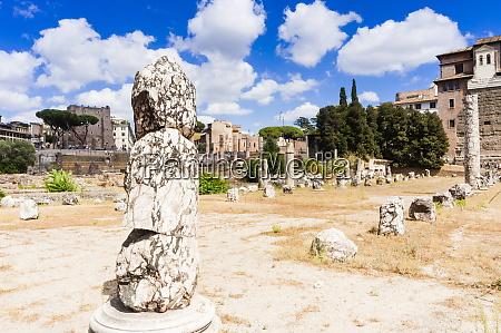 remains of basilica aemilia roman forum