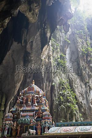 a hindu shrine within the batu