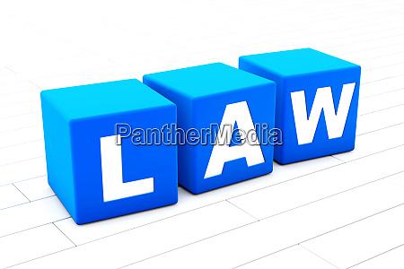 law word illustration