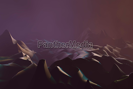 alien planet with sandy dunes