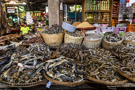 dried fish on the market of