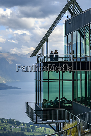observation deck and restaurant with glass