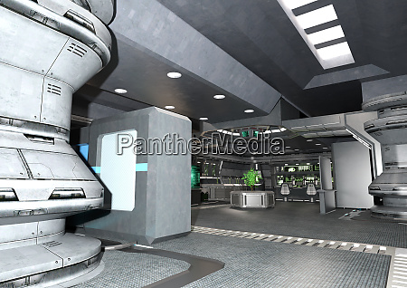 3d rendering botanical space laboratory