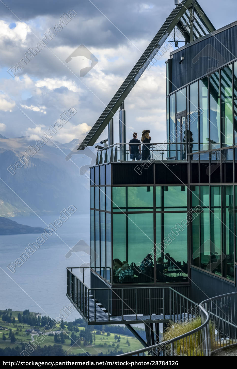 observation, deck, and, restaurant, with, glass - 28784326
