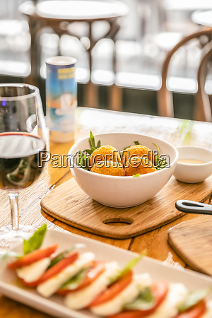 traditional italian cuisine in a restaurant