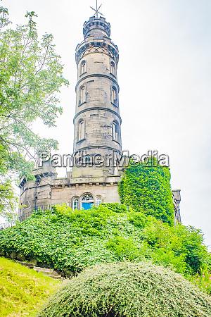edinburgh landmark nelsons column calton hill