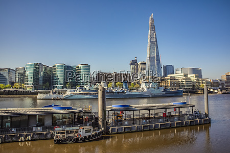 view of london and thames river