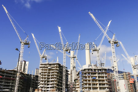 cranes in residential development and the
