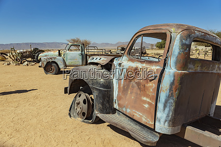 old cars in solitaire namib naukluft