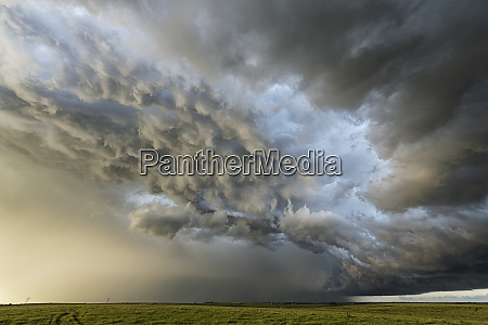 amazing clouds over the landscape of