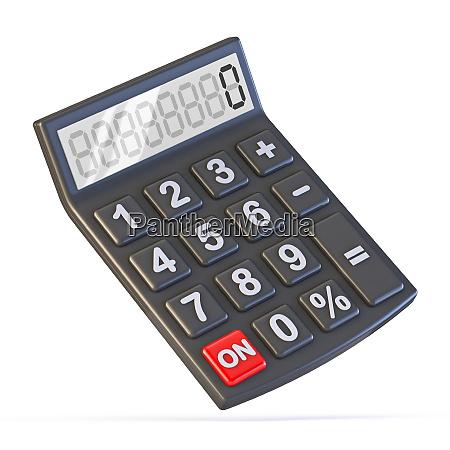 black calculator 3d