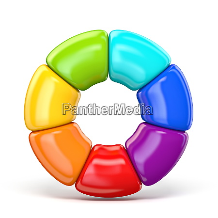 colorful circle chart 3d