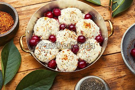 delicious sweet cherry dumplings