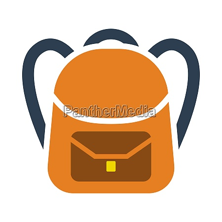 icon of school rucksack in ui
