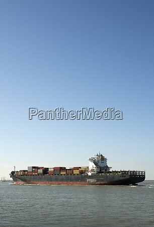 container ship carrying part of a