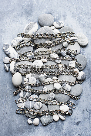 grey and white pebbles in an