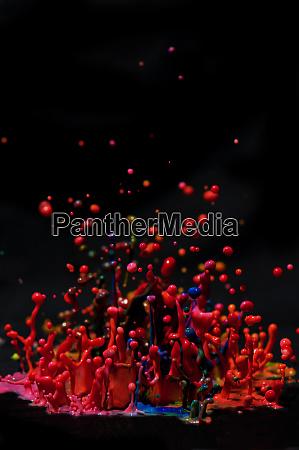 paint sculpture high speed photography