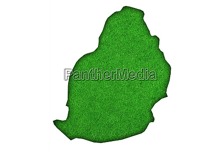 map of mauritius on green felt