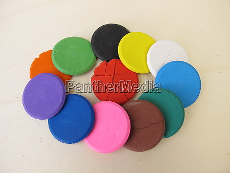 colorful water soluble watercolor tablets