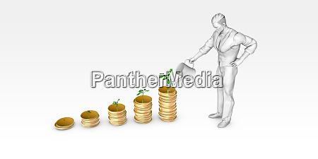 watering financial tree