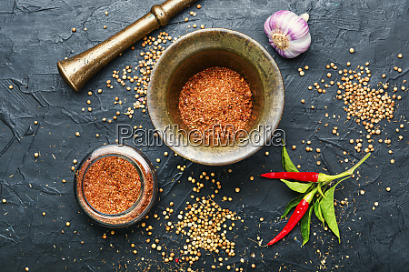 dry adjika condiment