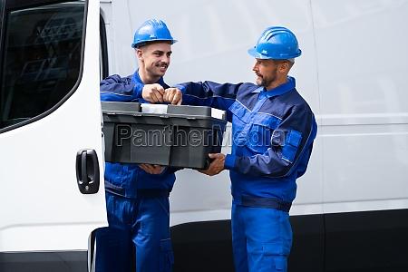 repairman electrician man or repair technicians