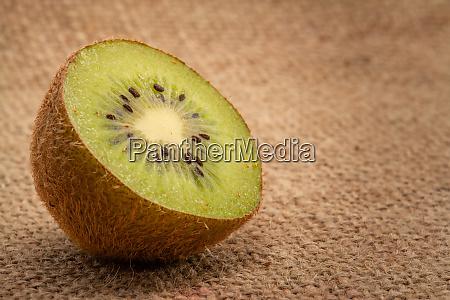 half kiwi fruits