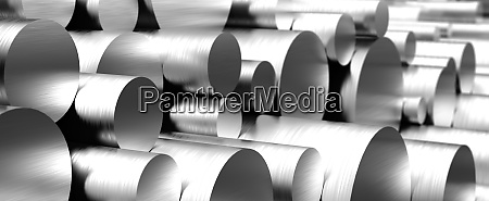 stack of stainless steel rods
