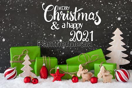 snowflakes tree gift ball merry christmas
