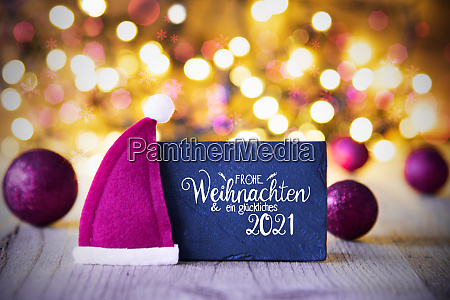 sparkling lights ball purple santa hat