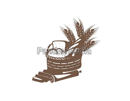 bread with wheat inside the basket