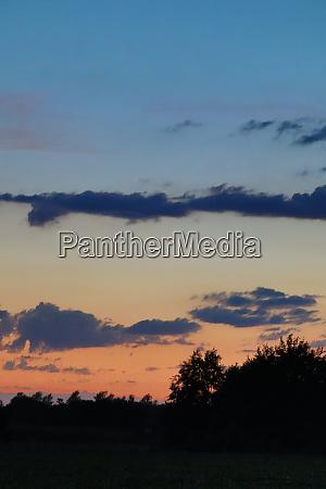 coloured evening sky